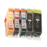 Compatible Ink Cartridges PGI-520 BK/CLI-521 CMYK for Canon