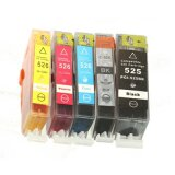 Compatible Ink Cartridges PGI-525 BK/CLI-526 CMYK for Canon Pixma MG8250