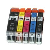 Compatible Ink Cartridges PGI-570/CLI-571 CMYK for Canon (0372C004)